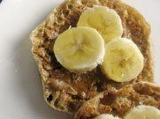 english muffin peanut butter banana
