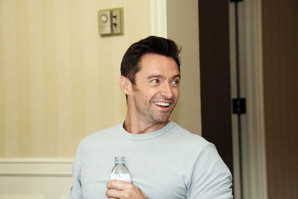 Candid Photo Hugh Jackman Real Steel