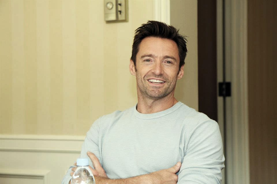 hugh jackman photos from real steel press junket