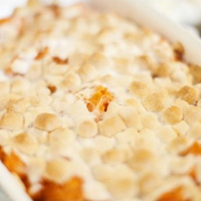 Healthy Marashmallow Sweet Potato Casserole Recipe