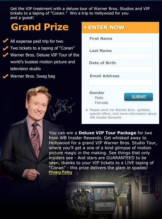 Win a Trip to Hollywood and A Television Dream Pack Giveaway : (Ends 4