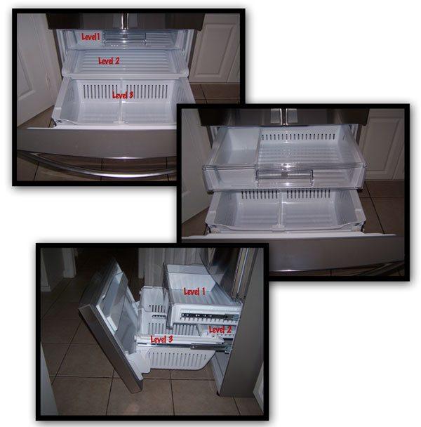 Kenmore Grab-N-Go Refrigerator Bottom Freezer