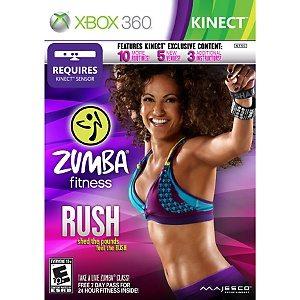 Zumba Rush Kinect Review and Zumba Flash Mob Video