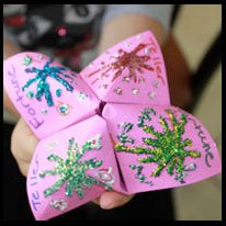 Fun Cootie Catcher with AstroBrights Paper