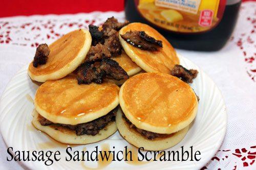 Aunt Jemima Lil Griddles : Sausage Sandwich Scramble