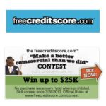 Get Creative Win $25,000 with freecreditscore.com