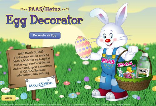 PAAS Heinz Egg Decorator iPad App