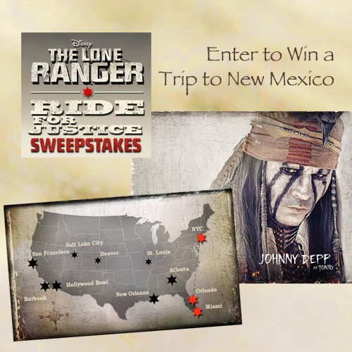 """Win a Trip to New Mexico """"The Lone Ranger Ride for Justice Sweepstakes"""""""