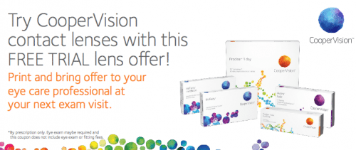 Free Contacts CooperVision