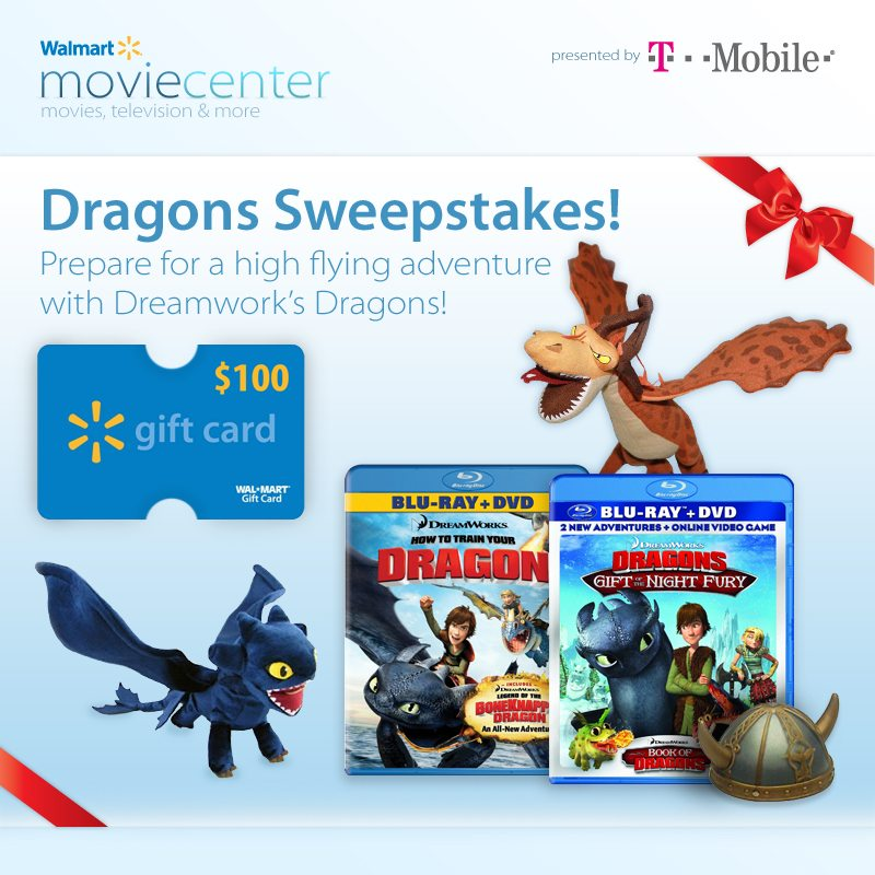 Dragons Sweeps Gift Pack and $100 Walmart Gift Card Giveaway : (Ends 8/15)
