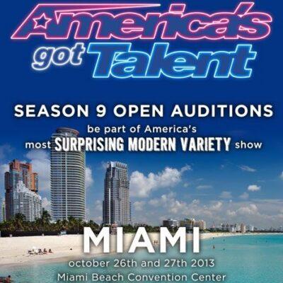 Audition for America's Got Talent Season 9 in Miami