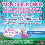World of Barbie Prize Pack $1000 Sweepstakes and $25 Walmart Giveaway : (Ends 12/17)