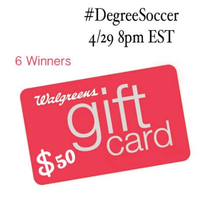 Twitter Party #DegreeSoccer – 4/29 8pm EST