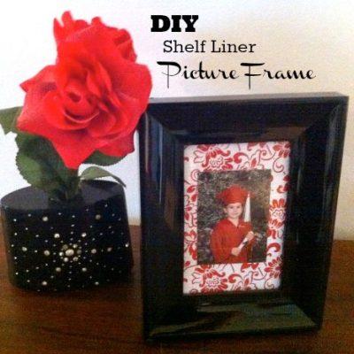 DIY Shelf Liner Picture Frame