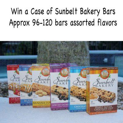 Case of Sunbelt Bakery Granola Bars Giveaway : (Ends 8/10)