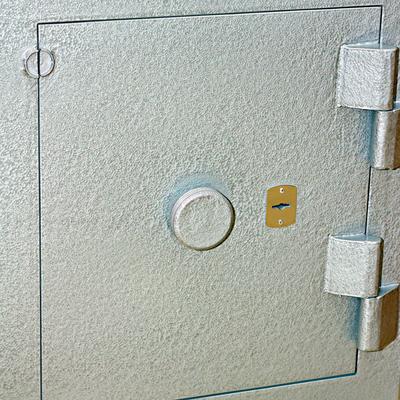 Steel door closed