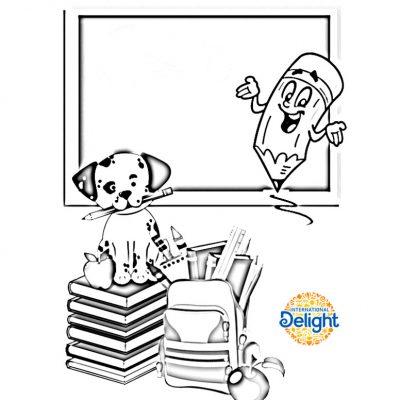 National Coffee Month and Back-To-School Coloring Page