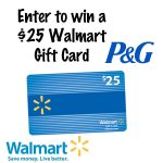 P&G Everyday at Walmart.com $25 Gift Card Giveaway : (Ends 8/21)