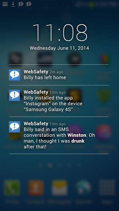 Child Monitoring WebSafety App