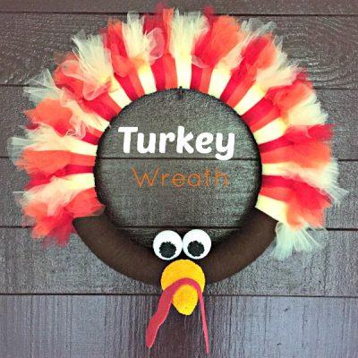 DIY Thanksgiving Turkey Wreath Craft