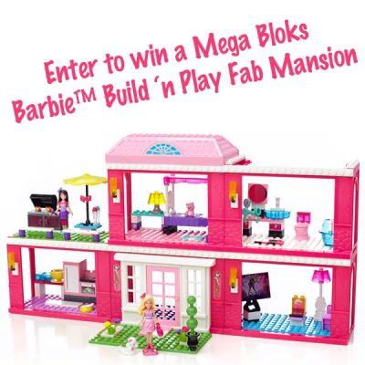 Mega Bloks Barbie™ Build 'n Play Fab Mansion Giveaway : (Ends 12/3)