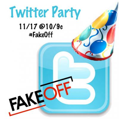 Twitter Party 11/17 @ 10/9c  #FakeOff : Watch Live and Win Prizes!