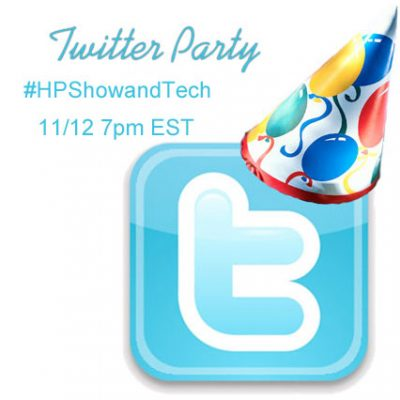 Twitter Party 11/12 @ 7pm EST #HPShowandTech