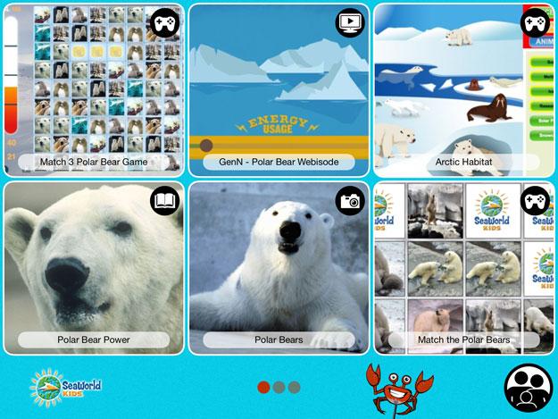 Polar Bear Playground SeaWorld App