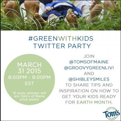 Twitter Party 3/31 8pm EST #GreenWithKids