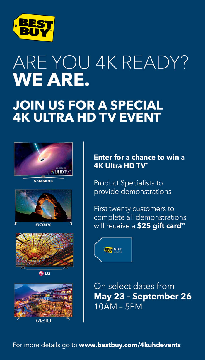 4K Ultra HD TV Event Best Buy