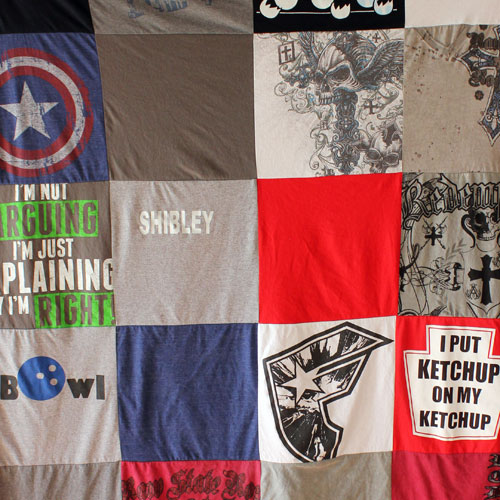 Project Repat T Shirt Quilt Blanket Preserving Memories