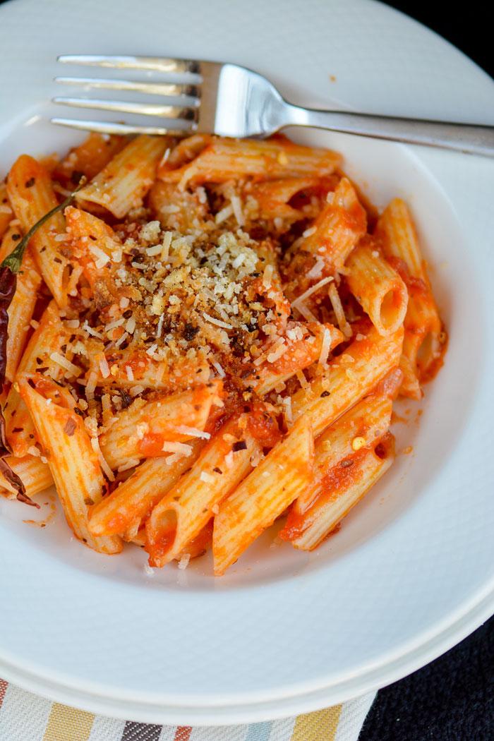 Spicy Marinara Penne Pasta
