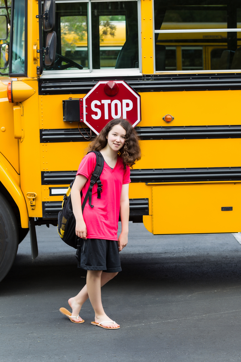 Young Girl Student back in Grade School
