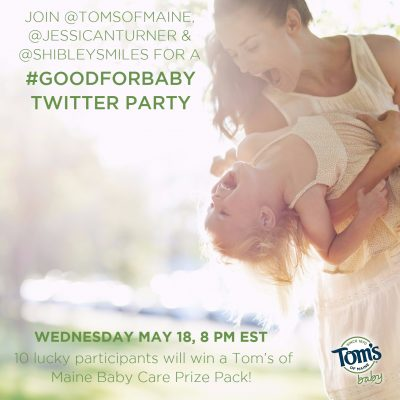 Twitter Party #GoodForBaby May 18 8pm EST