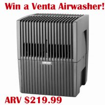 Venta Airwasher Humidifier and Purifier Giveaway : (Ends 6/16)