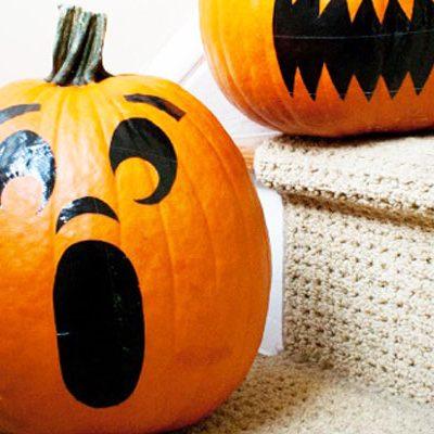 No Carve DIY Pumpkin Stickers