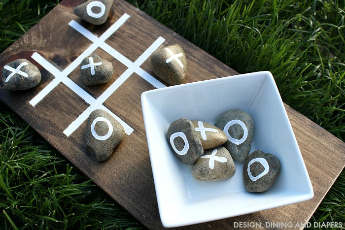 DIY Tic Tac Toe by Design Dining and Diapers