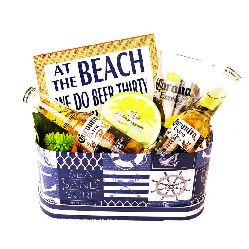 Beach Gift Basket for Him