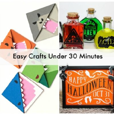 Easy Halloween and Other Crafts Using the Cricut Explorer